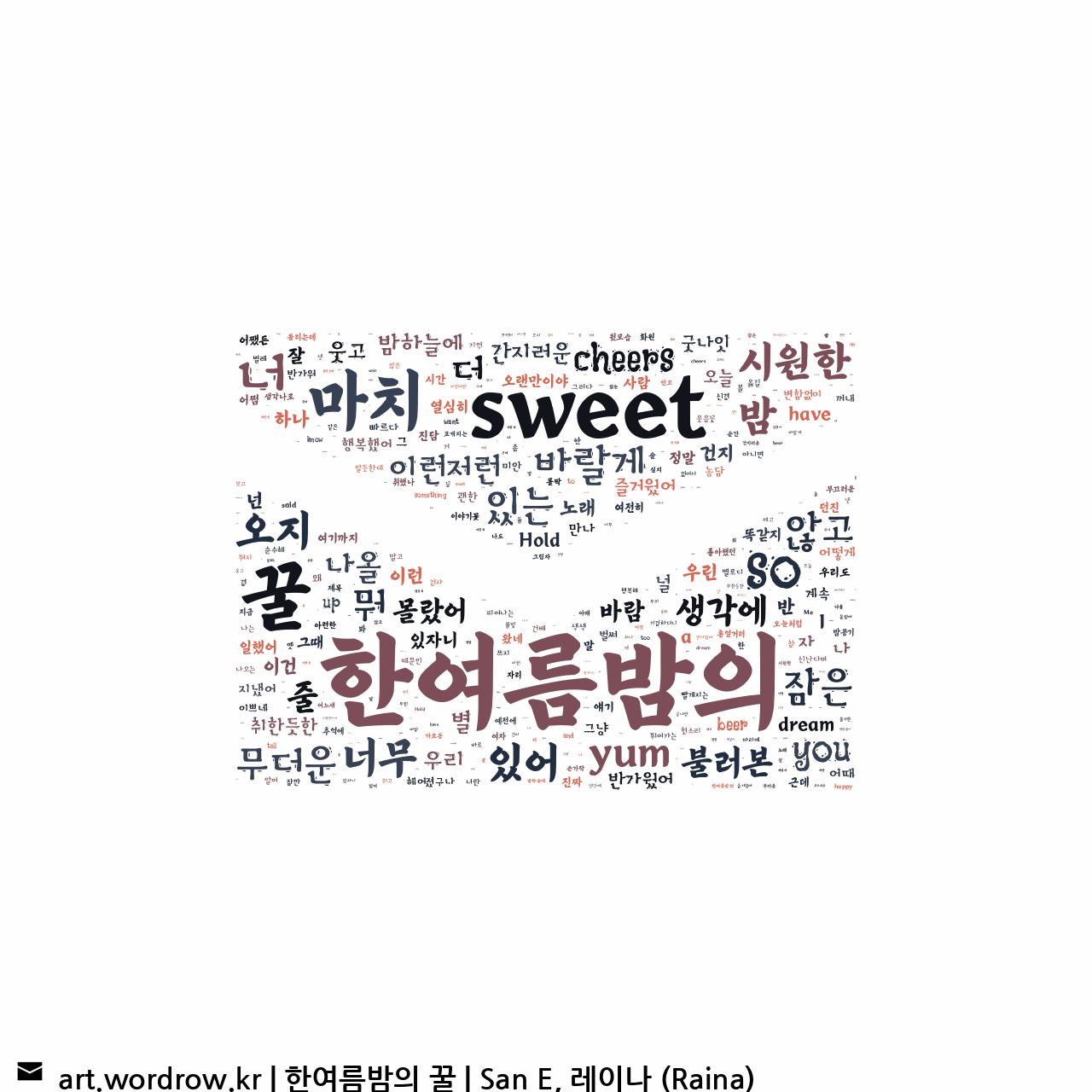 워드 클라우드: 한여름밤의 꿀 [San E, 레이나 (Raina)]-61